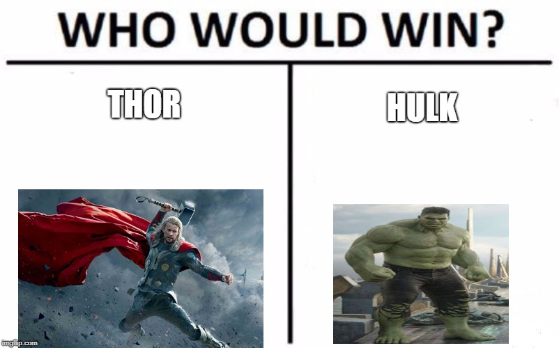 Who Would Win? Meme | THOR HULK | image tagged in memes,who would win | made w/ Imgflip meme maker