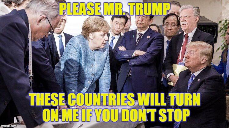 Please Mr. Trump | PLEASE MR. TRUMP THESE COUNTRIES WILL TURN ON ME IF YOU DON'T STOP | image tagged in angela merkel | made w/ Imgflip meme maker