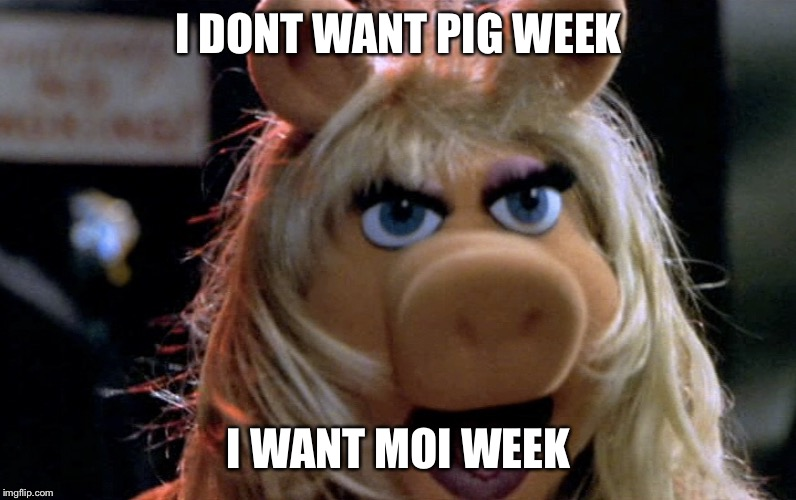 I DONT WANT PIG WEEK I WANT MOI WEEK | made w/ Imgflip meme maker
