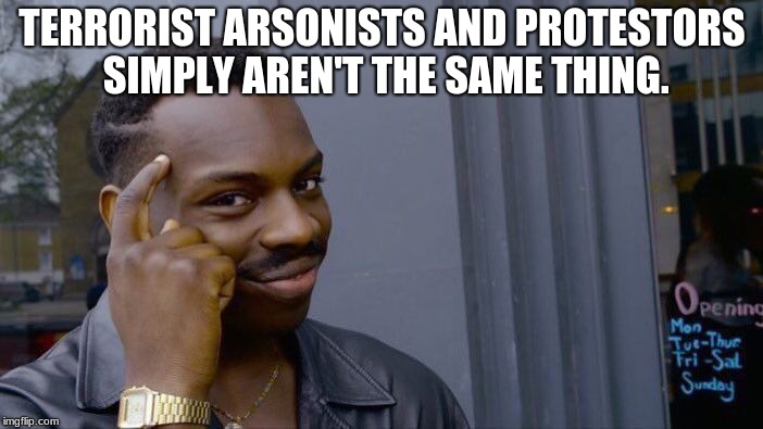 Vocabulary Lesson | TERRORIST ARSONISTS AND PROTESTORS SIMPLY AREN'T THE SAME THING. | image tagged in memes,roll safe think about it,middle east,palestininan protestors,israel,israel jews | made w/ Imgflip meme maker
