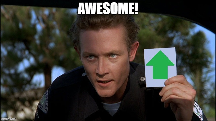 t2 | AWESOME! | image tagged in t2 | made w/ Imgflip meme maker
