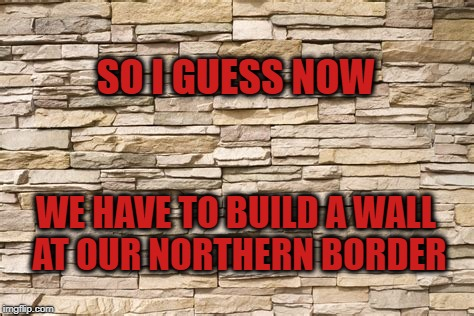 Making Enemies Out of Friends, and Friends out of Enemies | SO I GUESS NOW WE HAVE TO BUILD A WALL AT OUR NORTHERN BORDER | image tagged in trump,canada,justin trudeau,g7,g6  1,g6 | made w/ Imgflip meme maker