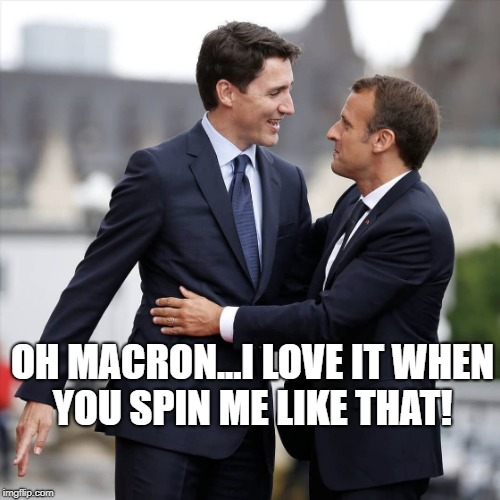 OH MACRON...I LOVE IT WHEN YOU SPIN ME LIKE THAT! | image tagged in true love | made w/ Imgflip meme maker