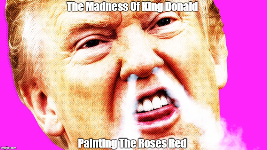 The Madness Of King Donald Painting The Roses Red | made w/ Imgflip meme maker