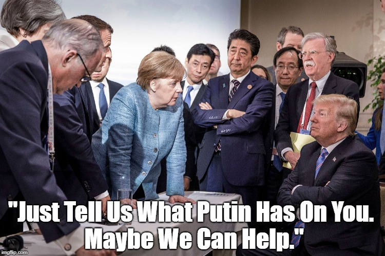 """Just Tell Us What Putin Has On You. Maybe We Can Help."" 