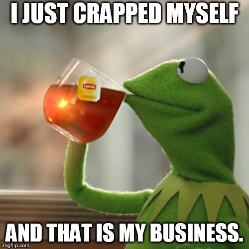 But Thats None Of My Business Meme | I JUST CRAPPED MYSELF AND THAT IS MY BUSINESS. | image tagged in memes,but thats none of my business,kermit the frog | made w/ Imgflip meme maker