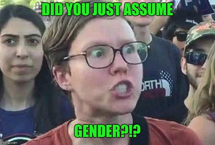 DID YOU JUST ASSUME GENDER?!? | made w/ Imgflip meme maker