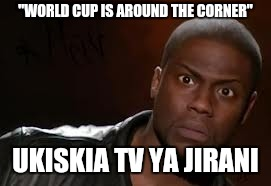 "Kevin Hart Meme | ""WORLD CUP IS AROUND THE CORNER"" UKISKIA TV YA JIRANI 