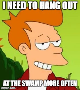 I NEED TO HANG OUT AT THE SWAMP MORE OFTEN | made w/ Imgflip meme maker