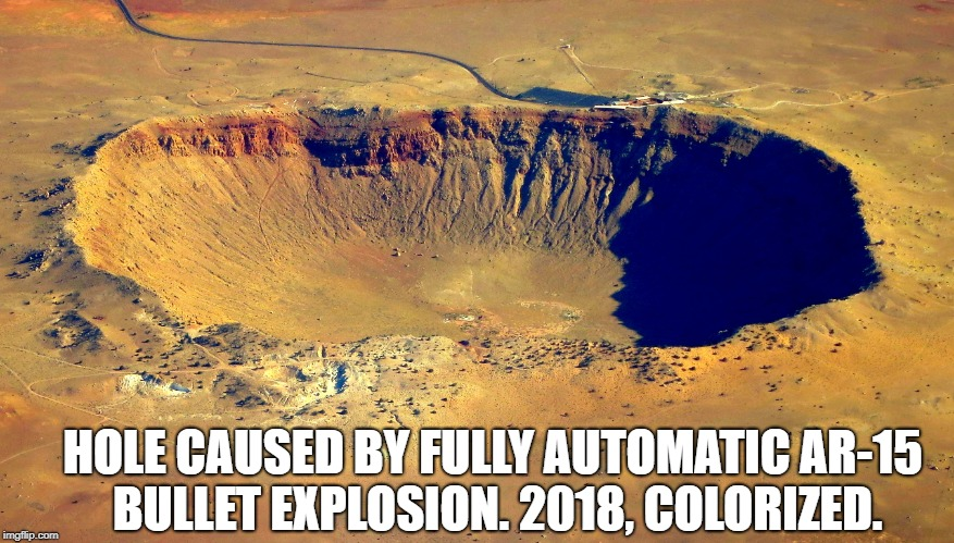 """When I shot that AR-15 machine gun, I thought it was going to kill me!"" 