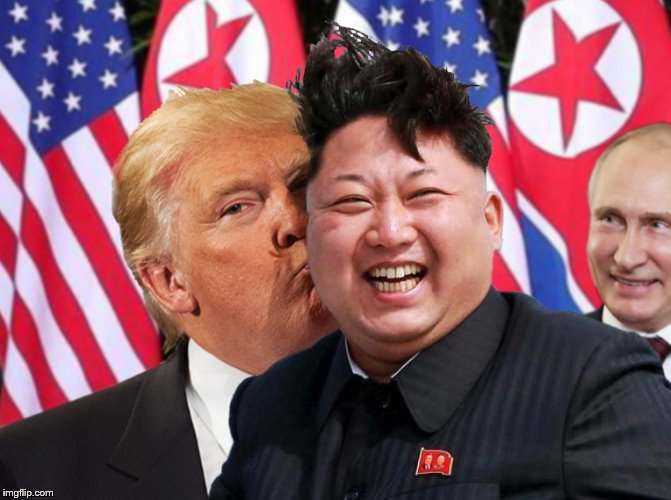 Donald & Kim Forever | image tagged in kim and donald trump,kim jong un,donald trump,donald trump is an idiot | made w/ Imgflip meme maker