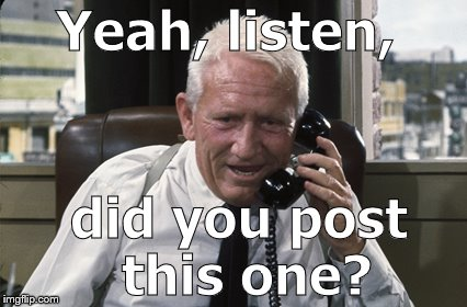 Tracy | Yeah, listen, did you post this one? | image tagged in tracy | made w/ Imgflip meme maker