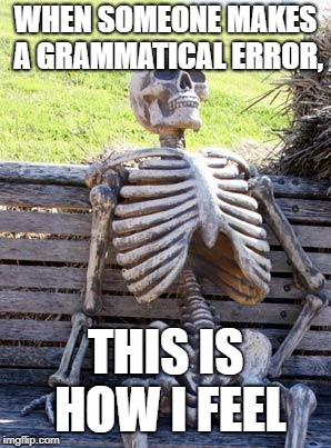 Grammar is important | WHEN SOMEONE MAKES A GRAMMATICAL ERROR, THIS IS HOW I FEEL | image tagged in memes,grammar | made w/ Imgflip meme maker