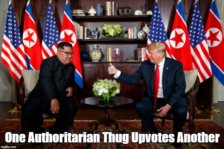 One Authoritarian Thug Upvotes Another | made w/ Imgflip meme maker