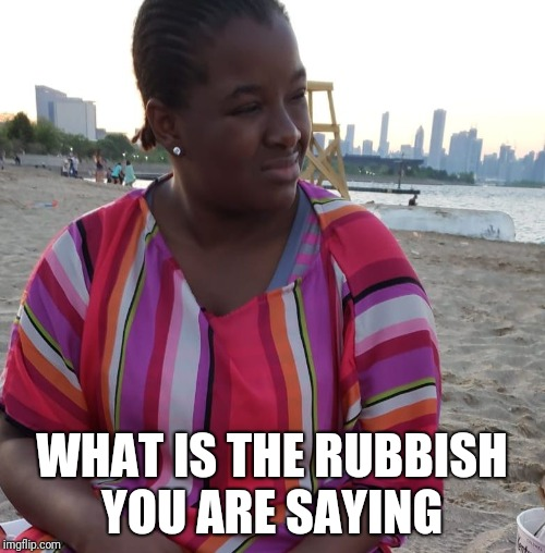 1 | WHAT IS THE RUBBISH YOU ARE SAYING | image tagged in funny memes | made w/ Imgflip meme maker