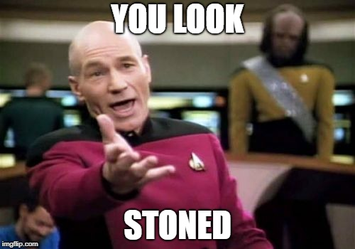 Picard Wtf Meme | YOU LOOK STONED | image tagged in memes,picard wtf | made w/ Imgflip meme maker