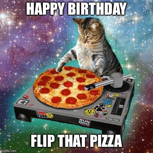 Birthday Cat Meme Generator: Image Tagged In Space Cat Happy Birthday