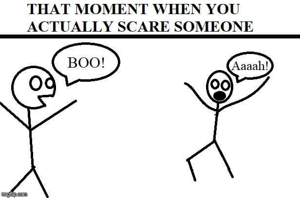 Plain and Simple | . | image tagged in stick figure,scare,that moment when,plain,simple | made w/ Imgflip meme maker