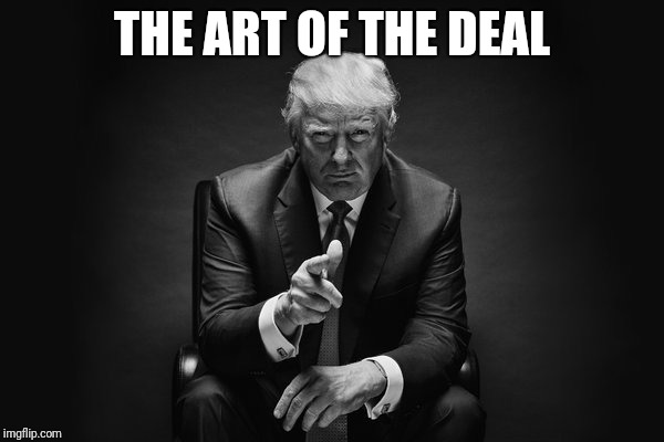 Donald Trump Thug Life | THE ART OF THE DEAL | image tagged in donald trump thug life | made w/ Imgflip meme maker