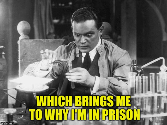 WHICH BRINGS ME TO WHY I'M IN PRISON | made w/ Imgflip meme maker