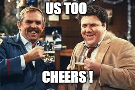 US TOO CHEERS ! | made w/ Imgflip meme maker