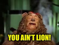 YOU AIN'T LION! | made w/ Imgflip meme maker