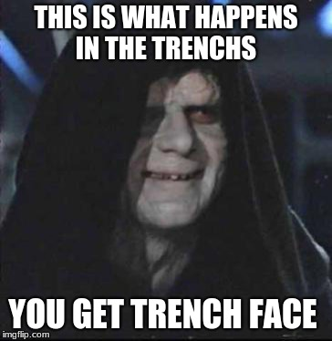 Sidious Error Meme | THIS IS WHAT HAPPENS IN THE TRENCHS YOU GET TRENCH FACE | image tagged in memes,sidious error | made w/ Imgflip meme maker