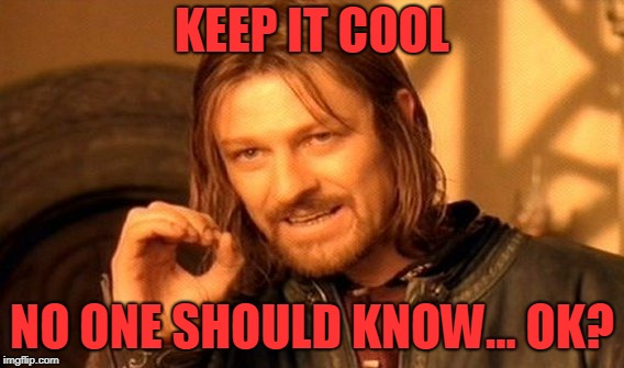 One Does Not Simply Meme | KEEP IT COOL NO ONE SHOULD KNOW... OK? | image tagged in memes,one does not simply | made w/ Imgflip meme maker