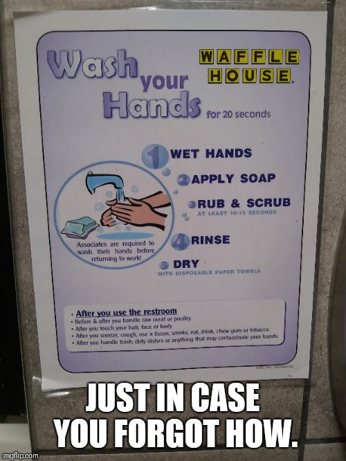 How do I... | JUST IN CASE YOU FORGOT HOW. | image tagged in wash hands | made w/ Imgflip meme maker