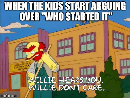 "When the Kids start arguing | WHEN THE KIDS START ARGUING OVER ""WHO STARTED IT"" 