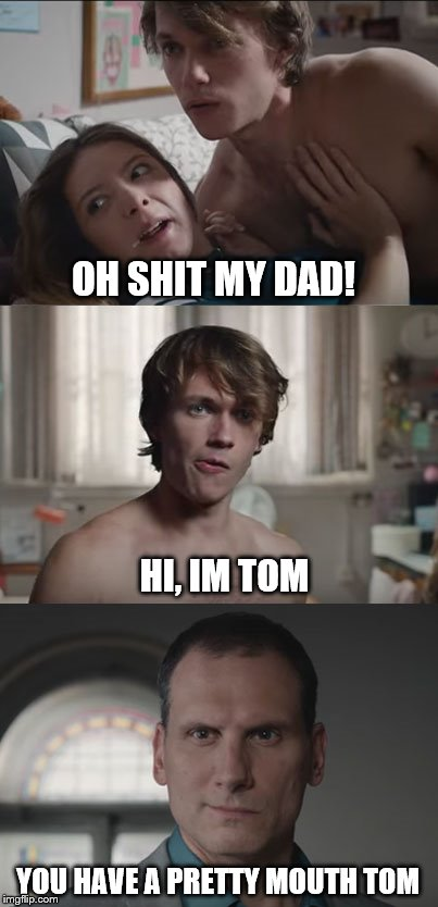 Hi, I'm Tom | OH SHIT MY DAD! HI, IM TOM YOU HAVE A PRETTY MOUTH TOM | image tagged in orbit,tom,advert | made w/ Imgflip meme maker
