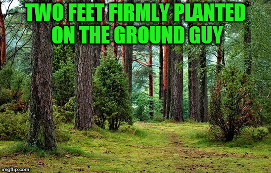 TWO FEET FIRMLY PLANTED ON THE GROUND GUY | made w/ Imgflip meme maker