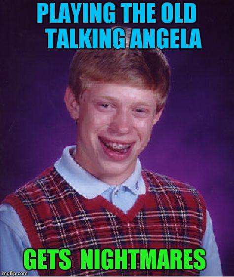 The old talking angela eyes - Imgflip