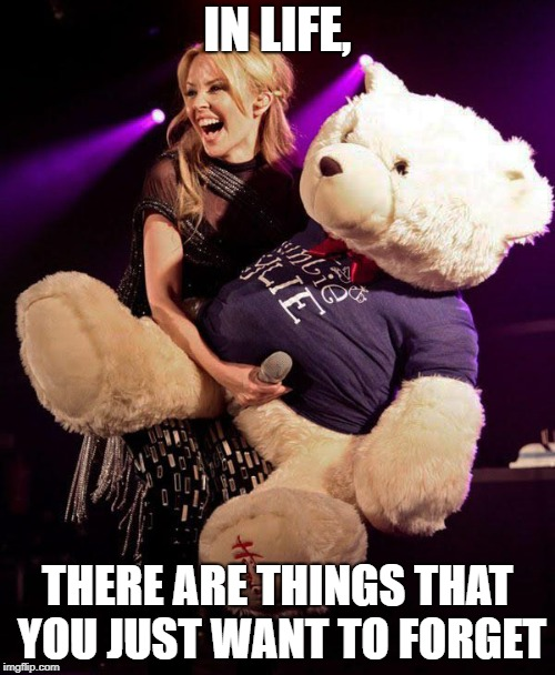 Many times you are remembered for doing things that you regret doing the most. | IN LIFE, THERE ARE THINGS THAT YOU JUST WANT TO FORGET | image tagged in memes,funny,singers,confession bear,hot girl | made w/ Imgflip meme maker