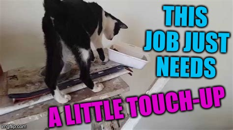THIS JOB JUST NEEDS A LITTLE TOUCH-UP | made w/ Imgflip meme maker