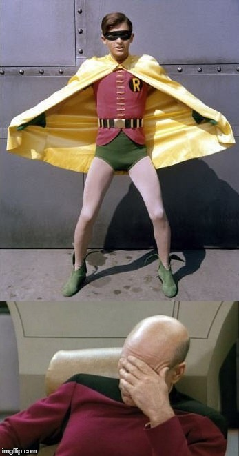 Robin Legs.... | image tagged in robin,star trek | made w/ Imgflip meme maker
