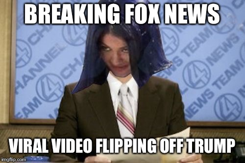 Ron Mimandy | BREAKING FOX NEWS VIRAL VIDEO FLIPPING OFF TRUMP | image tagged in ron mimandy | made w/ Imgflip meme maker
