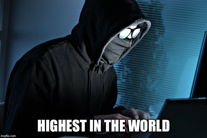 Paranoid | HIGHEST IN THE WORLD | image tagged in paranoid | made w/ Imgflip meme maker