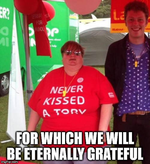 Corbyn/Labour - Never kissed a Tory | FOR WHICH WE WILL BE ETERNALLY GRATEFUL | image tagged in corbyn eww,communist socialist,funny,labouridead,wearecorbyn,cultofcorbyn | made w/ Imgflip meme maker
