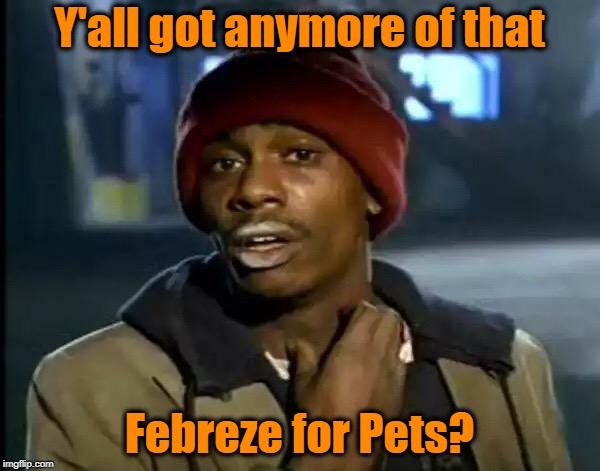 Y'all Got Any More Of That Meme | Y'all got anymore of that Febreze for Pets? | image tagged in memes,y'all got any more of that | made w/ Imgflip meme maker