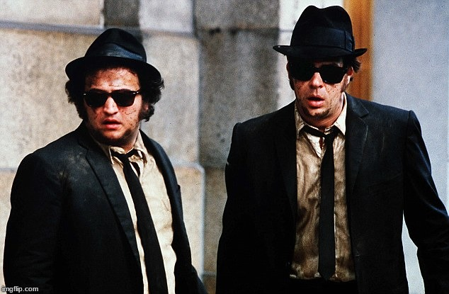 Blues Brothers wtf | image tagged in blues brothers wtf | made w/ Imgflip meme maker