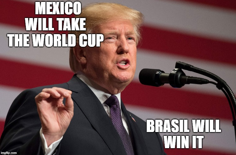 mexico | MEXICO WILL TAKE  THE WORLD CUP BRASIL WILL WIN IT | image tagged in mexico,donald trump,world cup | made w/ Imgflip meme maker