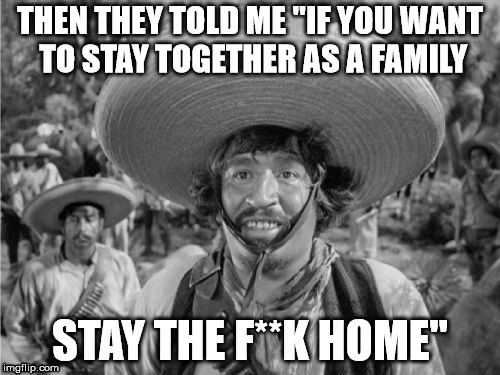 "THEN THEY TOLD ME ""IF YOU WANT TO STAY TOGETHER AS A FAMILY STAY THE F**K HOME"" 