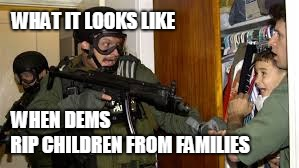 Clinton Era Immigration | WHEN DEMS RIP CHILDREN FROM FAMILIES WHAT IT LOOKS LIKE | image tagged in deep state | made w/ Imgflip meme maker