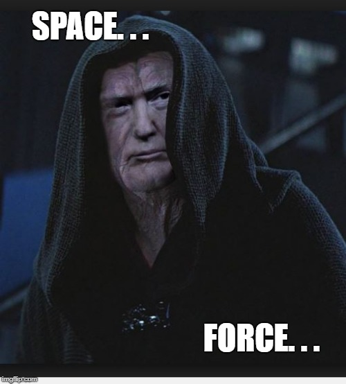 Sith Lord Trump | SPACE. . . FORCE. . . | image tagged in sith lord trump | made w/ Imgflip meme maker