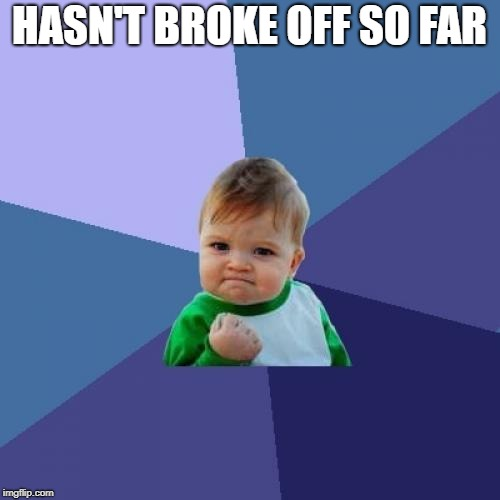 Success Kid Meme | HASN'T BROKE OFF SO FAR | image tagged in memes,success kid | made w/ Imgflip meme maker