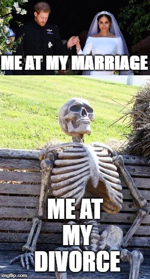 Man is a sad bird | ME AT MY MARRIAGE ME AT MY DIVORCE | image tagged in marriage,divorce | made w/ Imgflip meme maker