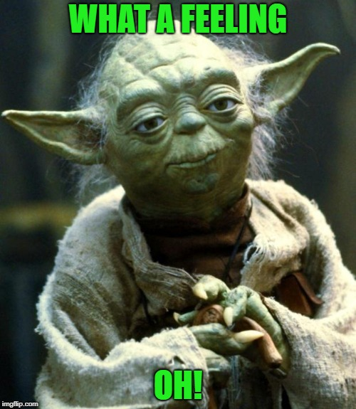 Star Wars Yoda Meme | WHAT A FEELING OH! | image tagged in memes,star wars yoda | made w/ Imgflip meme maker