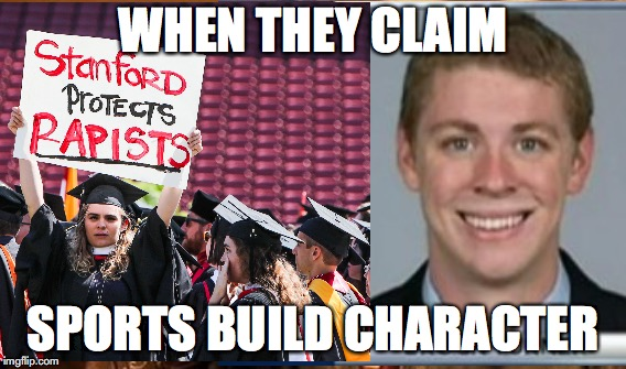 sports character myth | WHEN THEY CLAIM SPORTS BUILD CHARACTER | image tagged in sports,myth | made w/ Imgflip meme maker