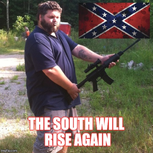 ah huh | THE SOUTH WILL RISE AGAIN | image tagged in confederacy | made w/ Imgflip meme maker